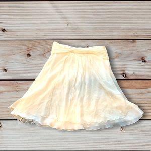 3/20$ Nine West Chiffon Mini Skirt A-line White 12